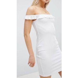 HOST PICK 💕 Bardot frill mini rib dress